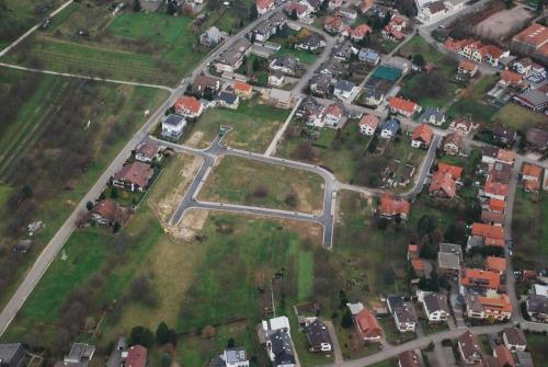 Luftbild des Neubaugebietes